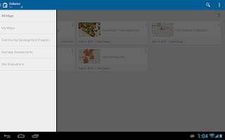 Screenshot of Collector for ArcGIS