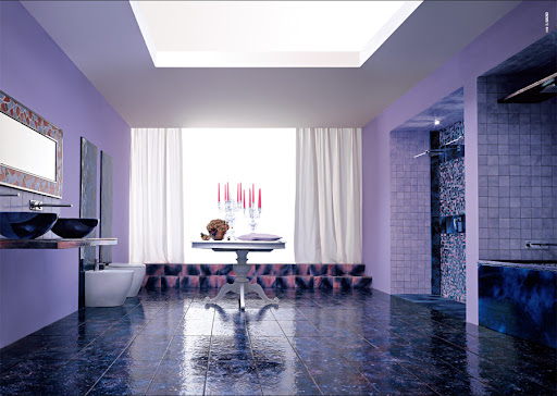 Purple Bathroom Design Ideas by Franco Pecchioli Ceramica
