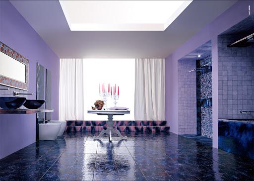 Purple Bathroom Design Ideas by Franco Pecchioli Ceramica