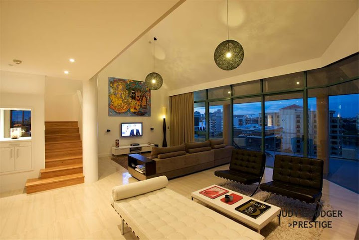 Riverside Penthouse Design, Interior House Design, Living Room Decorating, Room Decorating, Bathroom Design