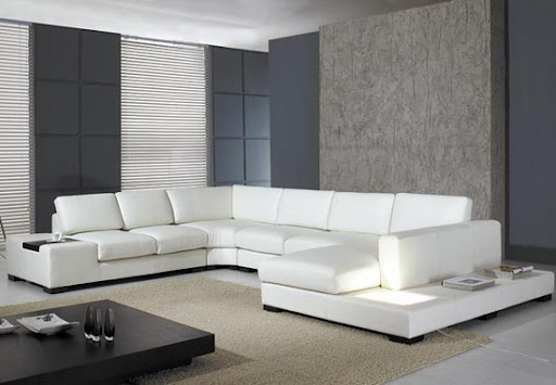 Modern and Contemporary White Leather Sofa Design | Bhouse