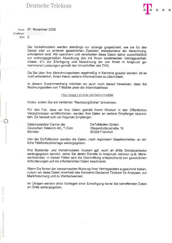 Deutsche Telekom Datenauskunft