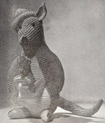 Toy Kangaroo Knitting Pattern : 1937 Kangaroo Toy Vintage Knitting Pattern 002 eBay