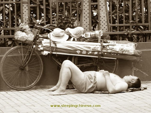 正在睡觉的中国人(组图)| jiaren.org