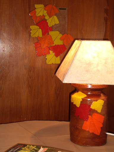 Autumn leaves lamp set