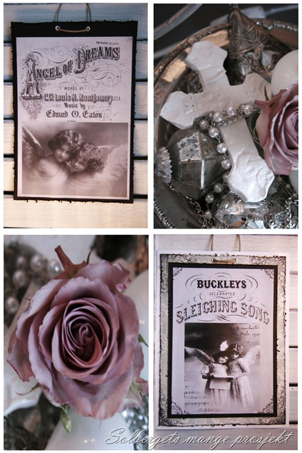 Roser og adventsstake