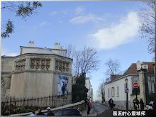 法國巴黎蒙馬特畫家村靜逸石磚步道