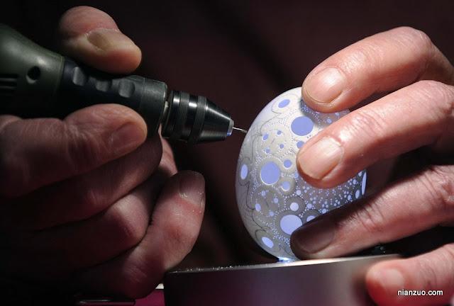2009复活节 雕刻复活节彩蛋,非常的细致工作,复活节,彩蛋,雕刻