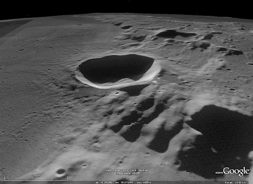 NASA - Small Crater at the Southern Rim of Menelaus