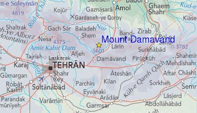 Road Map Damavand Mt.
