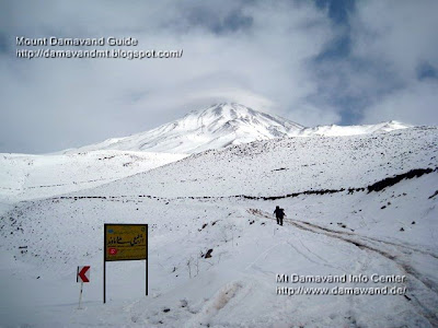Mt Damavand Winter Climb from Junction Gravel Road
