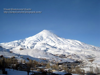 Damavand Mt. Winter view