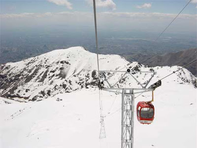 Telecabin Mt Tochal Tehran, Iran
