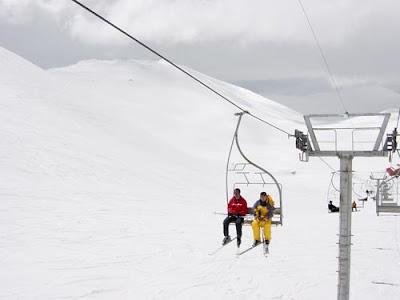 Ski Resort Mt Tochal chairlift Tehran, Iran