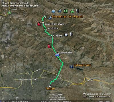 Shemshak Ski Resort GPS Map