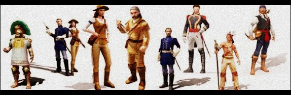 Personagens do age of empires 3.