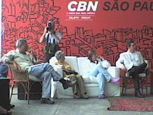 CBN São Paulo especial do aniversário da cidade, transmitido do Pátio do Colégio