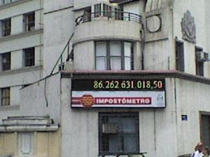 """""""Impostômetro"""" da Associação Comercial de São Paulo"""