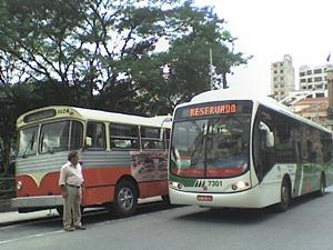 O velho e o novo ônibus elétrico