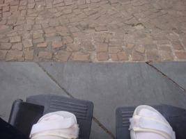 Rampas íngremes: outra dificuldade e risco para os cadeirantes. Foto: Leonardo Feder