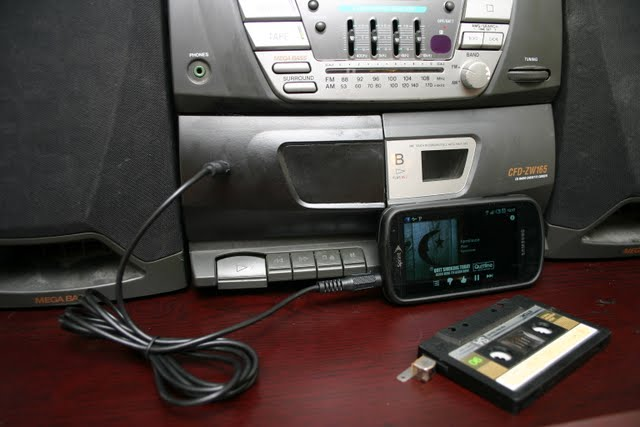 Photo of converted cassette player