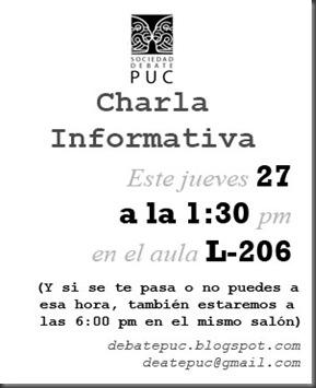 DebatePUC - Charla Informativa B