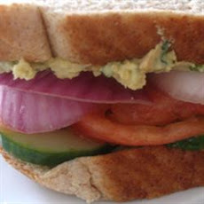 Veggie and Cilantro Hummus Sandwiches