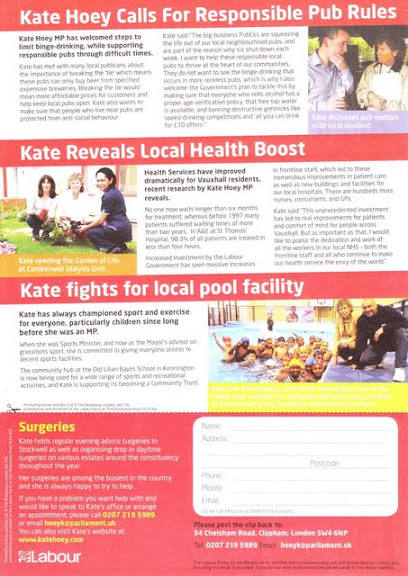 Vauxhall Labour Party New February 2010