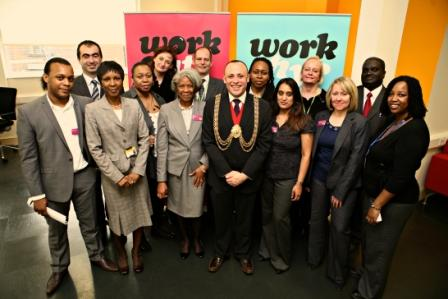 Mayor of Lambeth with Green Employment Zone staff