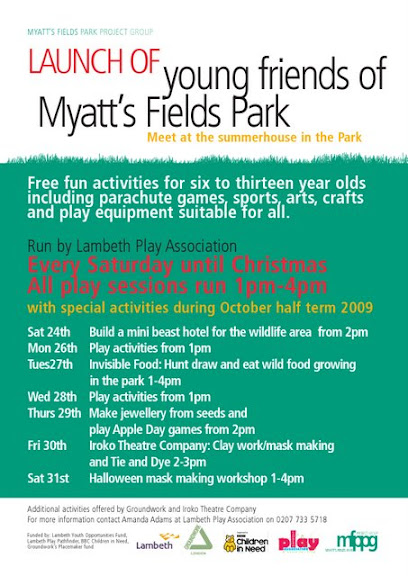 Young friends of Myatts Fields park flyer, SE5