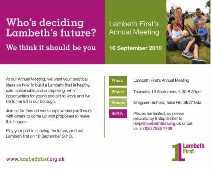 Lambeth First advert