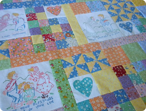 dishtowel quilt