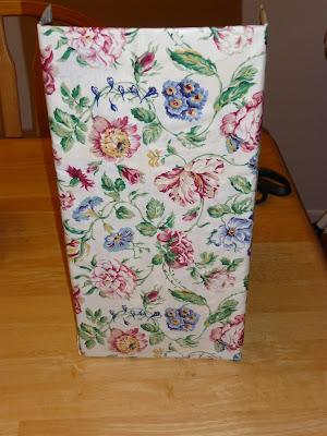 fabric covered magazine holder