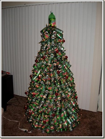 this christmas tree was submitted by reader lisa this is definitely the ultimate in redneck christmas decorations that or a college student - College Christmas Decorations