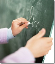 handwriting on blackboard