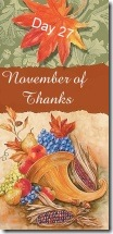 November of Thanks 27 at 'Rebecca Writes'