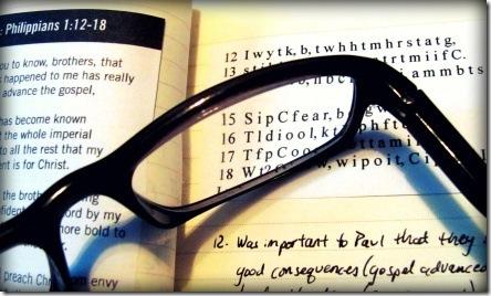 memorizing Philippians