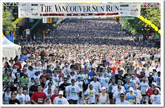 Sun run from newspaper
