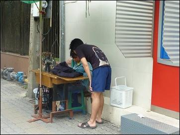 Bangkok Street Seamstress