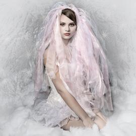 by Marie Otero - People Portraits of Women ( fantasy, model, winter, female, queen, woman, snow, portrait )