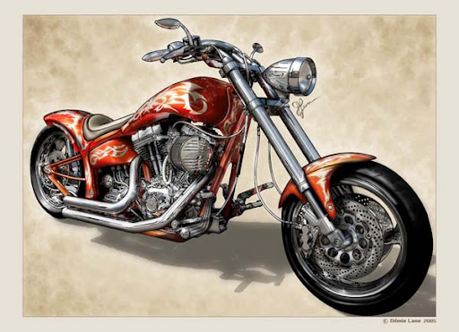 La Harley (c) Démie Lune 2005
