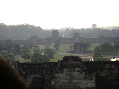 Top view from Angkor Wat's peak