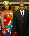Zuma with Tobeka Madiba after 2009 State of Nation address Pic Mike Hutchings Associated Press