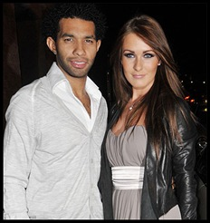Grove Amii UK model with UK footballer Jermaine Pennant