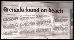 Grenade found on beach in Cape Town mostly frequented by whites 10 March 2010