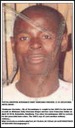 Matha chakhoma Moz 28 attacked Marizaan Kruger 1 RandburgApril222010