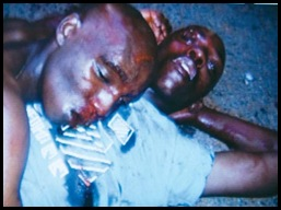 Two surviving robbers after beating by community Pienaar murder Kwaggasrand April 102010