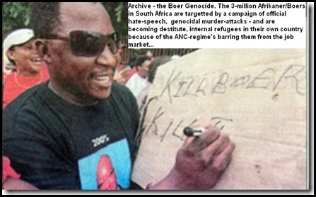 KillBoerKillFarmer_ANCSloganMeansKillAllWhites University Free State SASCO supporter