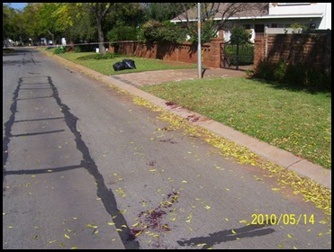 Benoni crime scene dead hijackers1 May2010