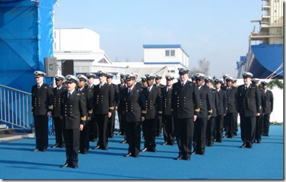 The crew of sas Queen Modjadji 15Mar2007GermanyCommissioning